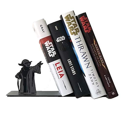 OCQBI Yoda Buchstütze, Star Wars Buchstütze, Buchstützen Unterstützung Für Büro Und Zuhause, Yoda The Force Bücherregal