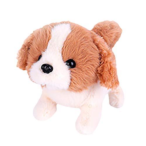 FNKDOR Plüschtier Kuscheltier Hund mit Funktion Laufen und Bellen, Hund Elektrisch Spielzeug für Kinder (Jagdhund, 17×11×14cm)