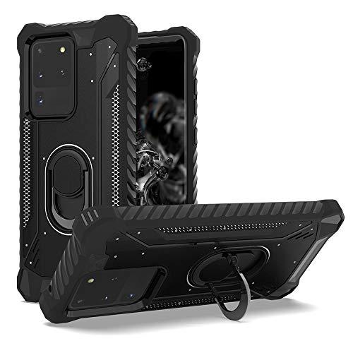 TERRAPIN, Kompatibel mit Samsung Galaxy S20 Hülle, [ECHT Leder] Brieftasche Hülle Tasche mit Standfunktion Kartenfächer & Bargeld - Schwarz