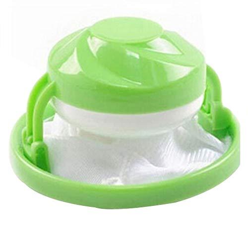 MIRRAY Sac de filtre de blanchisserie à laver collecteur de cheveux de charpie Maille Filet Filtrant Sac Pochette (Vert)