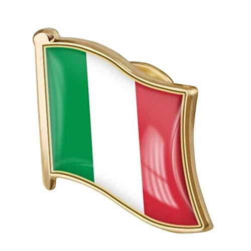 Zonster 1pc Italiano Bandera Pin Badge Metal Esmalte Pin Brooche Nacional Emblema Insignias Accesorio Novedad
