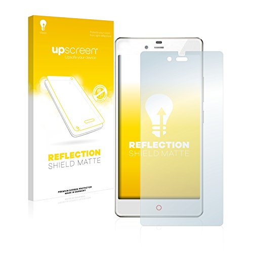 upscreen Entspiegelungs-Schutzfolie kompatibel mit ZTE Nubia Z9 Mini – Anti-Reflex Bildschirmschutz-Folie Matt