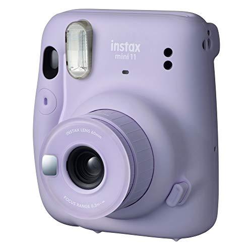 Câmera instantânea Fujifilm Instax Mini 11 Lilás + Bolsa + Filme Instax com 10 poses
