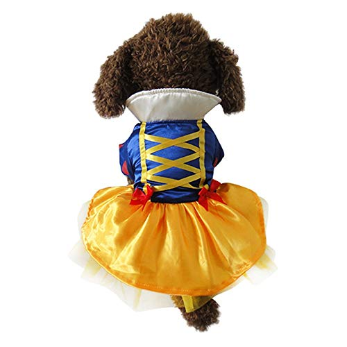 Youbedo Snow White Dog Costume - Christmas Princess Puppy Dress, Snow White Pet Apparel for Party Christmas Halloween Special Events Costume Review