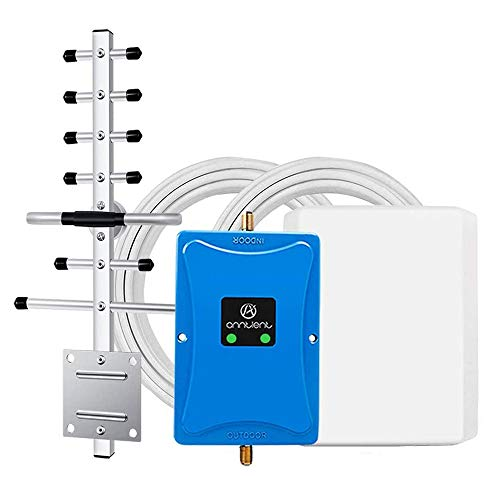 Cell Phone Signal Booster for Home and Office - Dual Band 850/1700MHz Signal Repeater Amplifier Boosts 3G 4G LTE Voice and Data for Verizon AT&T T-Mobile Band 4 Band 5 Cellulars Up to 4,500Sq Ft