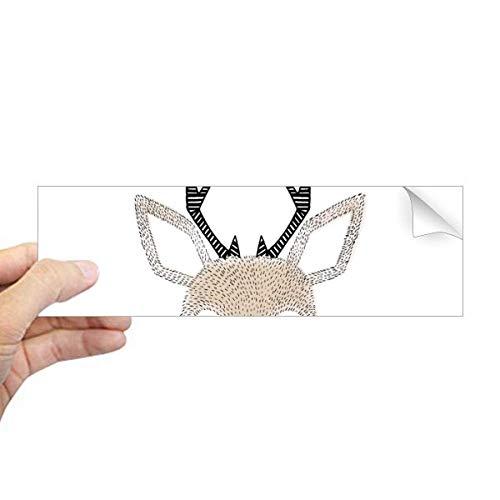 DIYthinker eenvoud stijl klein hert dier rechthoek bumper sticker notitieboekje sticker