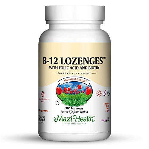 Maxi Health Vitamin B-12 Lozenges, Strawberry, 360 Count