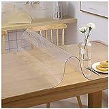 Protezione trasparente per coperchio da tavolo PVC, coperchio da tavolo da tavolo in plastica/impermeabile/a prova di olio/anti-scottatura/ideale per uso int Matte68°85 * 135CM-3mm