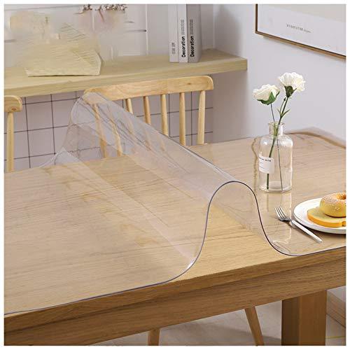 Protector De Cubierta De Tabla De PVC Transparente, Cubierta De Mesa De Protector De Mesa De Plástico/a Prueba De Agua/a Prueba De Ideal Para Uso En Interiores Y clear90°80 * 135CM-2mm