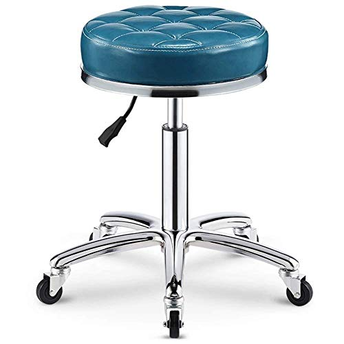 ChairStoolBar Chair Bar Chair Rotate Heähl Small Stool Barber Chair Werkbank Make Up Beauty Kruk A Blue Circle 45-59 cm.