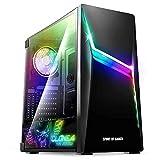 SPIRIT OF GAMER – Boitier PC Gamer Clone 4 ARGB - Moyen Tour ATX, Micro-ATX, ITX - 1 Ventilateurs 120 mm RGB Adressable + 1 Ventilateur 120 mm - Paroi Latérale en Verre Trempé