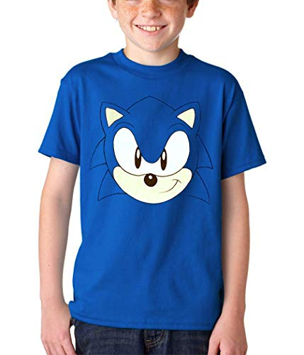 Sonic The Hedgehog Face T-Shirt (Youth, Youth X-Small[4/5])