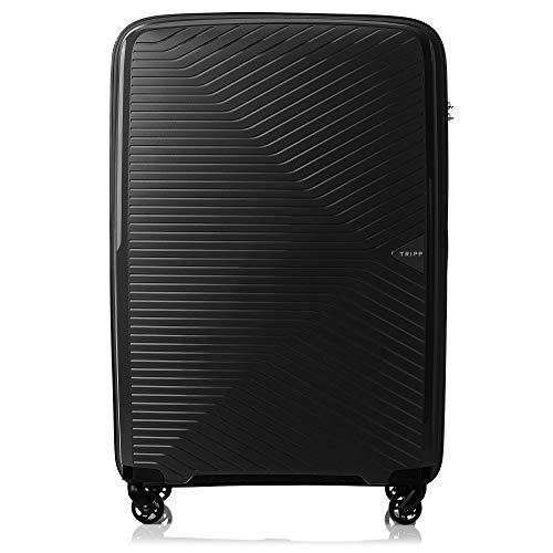 Tripp Black Chic Large 4 Wheel Suitcase