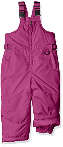 iXtreme Little Girls' Toddler Snow Bib, Berry, 4T