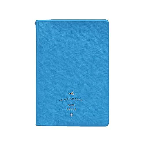 2nul Aire Passport Cover パスポートケース パスポートカーバ パスポート 旅行用品 トラベル用品 旅券 かわいい シンプル 面白い 薄い 出張 旅先 海外旅行 連休 子供 (シアンブルー)