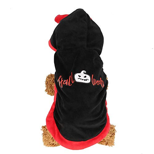 Pet Coat, Halloween Theme Party Costume Clothing Winter Warm Suit Outfit voor Dog Cat (M)