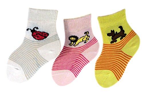Shimasocks Kinder Socken 3er Pack, Farben alle:für Girls weiß/rosé/vanille, Größe:23/26 bzw. 98/104