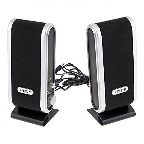 Paquete de altavoces, altavoces de juego dobles de 3 W, alimentador USB, altavoces de potencia de pequeñas dimensiones, sistema estéreo