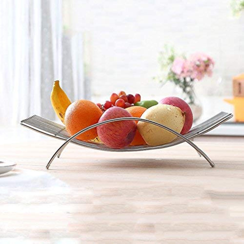 BAIF Panier à Fruits argenté de Grande capacité avec poignée Articles de ménage en Acier Inoxydable Panier à Fruits en Treillis, 38,3  25,7  9,2 cm - Durable