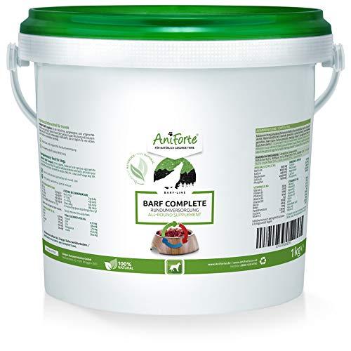 AniForte Barf Complete Pulver für Hunde 1 kg - 100% Natur Rundumversorgung - Natürliches Barfen für Hunde, Artgerecht & Ausgewogen, Hochwertiger Barf Zusatz, Reich an Mineralien & Vitamine für Hunde