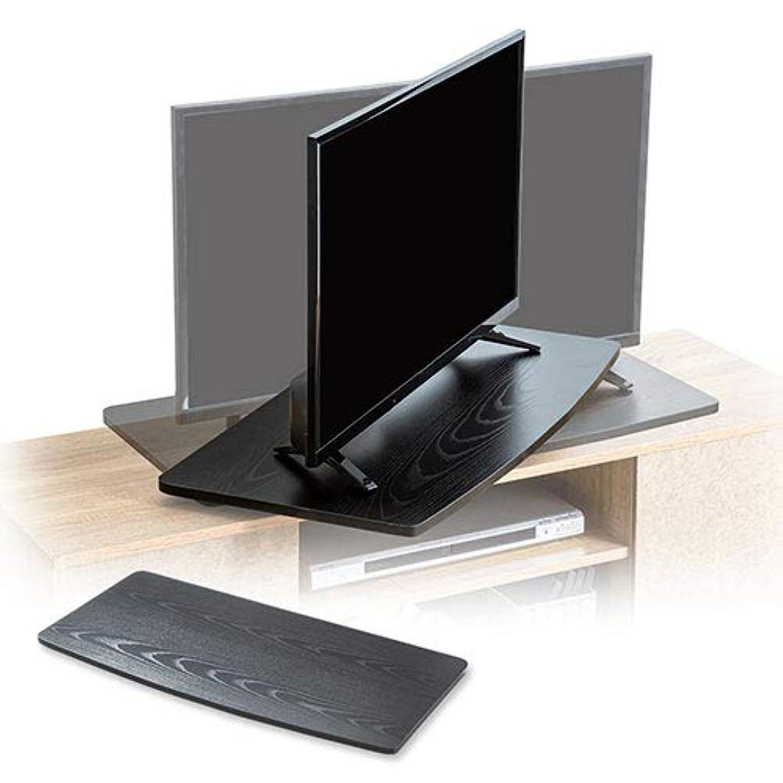 列挙するばかベンチイーサプライ テレビ回転台 ターンテーブル 360°大型 薄型 木棚 卓上 手動 幅80cm 耐荷重20kg 完成品 EEX-ROT08
