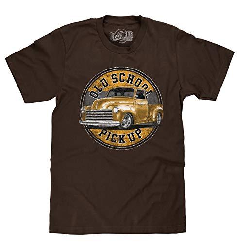 BEAR RUN Clothing Co. Old School Pickup Truck T-Shirt (Dark Chocolate) (XL)