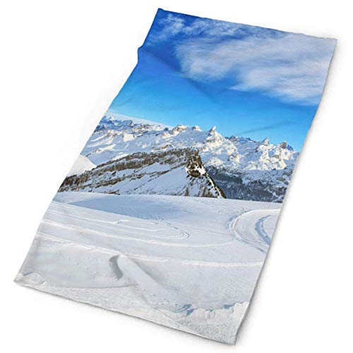 BDGAjdka Headband Swiss Alps Ski Slope Outdoor Scarf Face Scarf Neck Gaiter Head Wrap Sweatband Sports Headwear