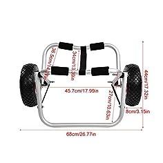 Carrito de kayak reforzado 1