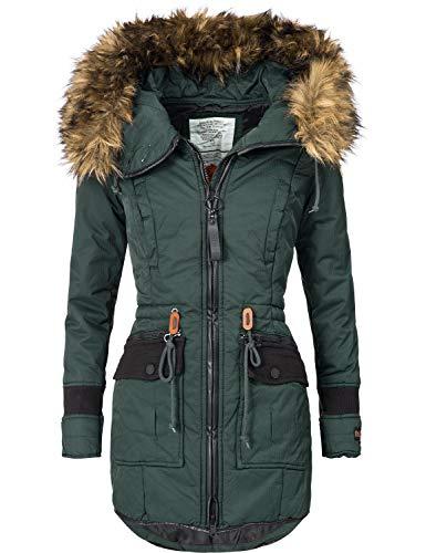 Khujo YM-Retro Bugs - Abrigo de invierno para mujer, 4 colores, S-XXL verde S