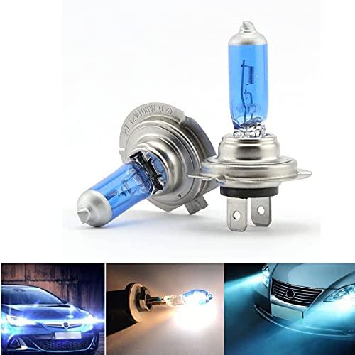 2 bombillas H7 para faros delanteros de coche, 8500 K, 12 V, 100 W, xenón para faros delanteros, HID faros antiniebla, luz blanca estupenda