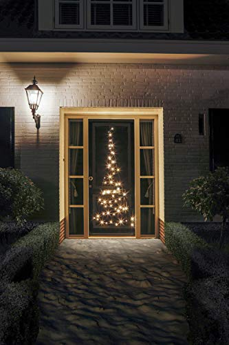 Türhänger Weihnachtsbaum 210cm, 60 LED warmweiß