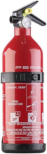 PEARL Auto Feuerlöscher: Kompakter ABC-Feuerlöscher für Kfz & Co, 1 kg, 5A 34B C (Pulverfeuerlöscher)