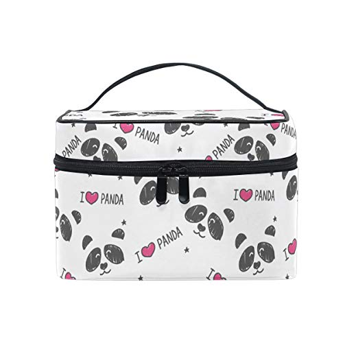 HaJie - Bolsa de maquillaje de gran capacidad, diseo de panda con estampado de animales de viaje, porttil, neceser de almacenamiento, bolsa de lavado para mujeres y nias