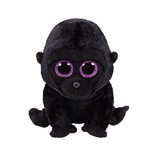 TY 37222 George Gorilla 37222-George-Gorilla Pluschtier mit Glitzeraugen Beanie Boo's, 15 cm, Schwarz