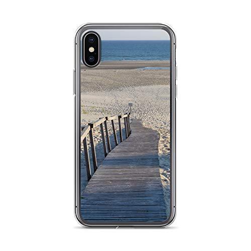 blitzversand Handyhülle NORDSEE WATT kompatibel für Huawei G8 Mini Wander Steg Strand Düne Schutz Hülle Case Bumper transparent rund um Schutz M6