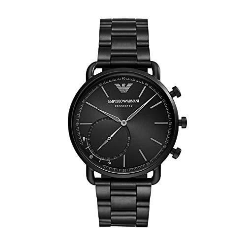 Emporio Armani Reloj Analógico para Hombre de Híbrido con Correa en Acero Inoxidable ART3031