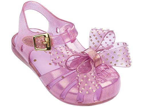 Melissa Mini Aranha Disco Bow Melflex Sandal Pink Glitter