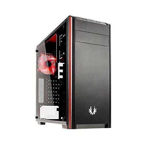 BitFenix Nova TG Schwarz - Computer-Gehäuse (PC, Kunststoff, Stahl, Gehärtetes Glas, Schwarz, ATX,Micro ATX,Mini-ITX, Gaming, 16 cm)