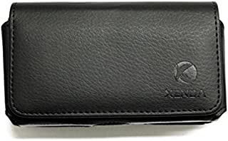 Black Horizontal Leather Case Side Pouch Cover Holster with Swivel Belt Clip for Net10 Samsung Galaxy Ace Style - Net10 Samsung Galaxy S2 - Net10 Samsung Galaxy S3 Mini