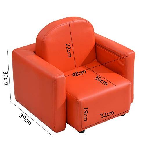 DBSCD Kinder Mini Sofa Kinder;n für Mini-Ledersofa für Kinder Kinder;Weiche konstante Kindermöbel für Wohnzimmer Nursery-Q 49x45x44cm (19x18x17inch)
