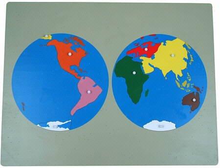 Montessori-Weltkarte, großes Puzzle aus Holz,ca. 57 x 44 cm zur Freiarbeit Erdkunde