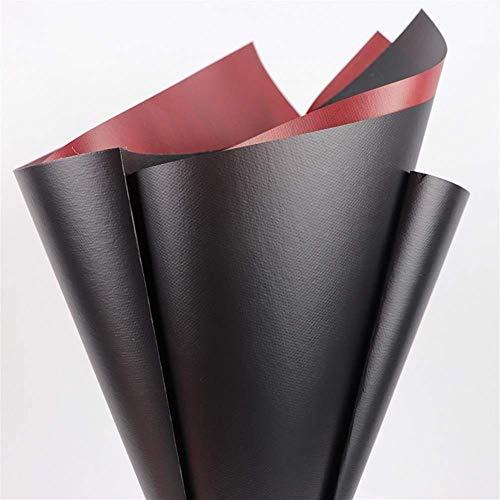 ZXL tweekleurig inpakpapier, waterdichte textuur kunst bloem winkel papier bakkerij decoratief materiaal 3 kleuren 60 * 60CM * 20 vellen dubbelzijdige verpakking (kleur: B)