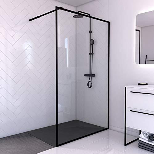Aurlane PACF010 - Mampara de ducha, color negro