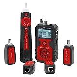 /G Localizador de líneas de Cables NF-858C RJ11 RJ45 BNC Buscador de Cables portátil Probador de Cables Instrumento de medición de Cables para Pruebas de Cables de Red