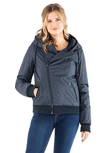 Sublevel Damen Winter-Jacke mit Kapuze warm gefüttert Blue XL