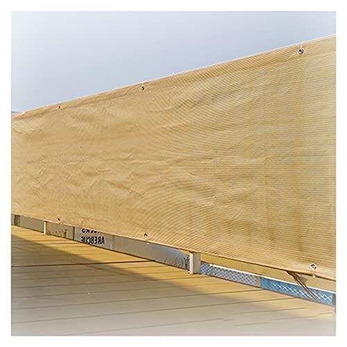 ALGFree Lonas para Sombra, Exterior Balcón Privacidad Lona Ojal de Metal para Balcón, Jardín, Plantas Distancia del Agujero 1 M,Personalizable (Color : Beige, Size : 1x3m)