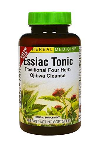 Essiac Tonic - Whole Body Detoxification Eliminates Cellular Wastes - Liver and Blood Cleanser - No Refrigeration No Brewing - 4 Original Herbal Ingredients (Burdock + Sheep Sorrel + Slippery Elm + Turkey Rhubarb) - 120 Softgels - Herbs Etc