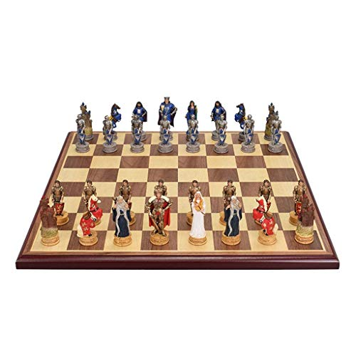 Yxxc Strategy Game Chess Upscale Chess Set Character Resin Chess Pieces Chess Board Retro Desktop Entertainment Chess Games Gift Chess Board (Color : Style