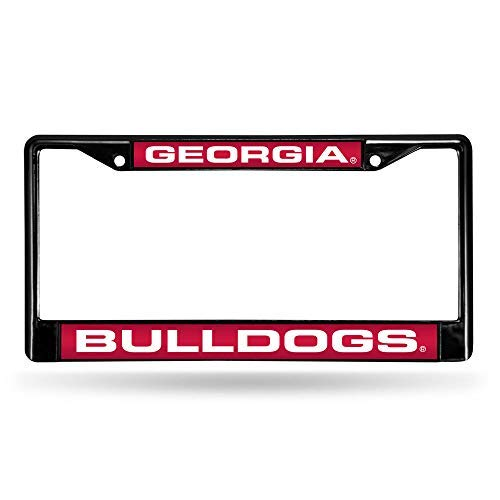 NCAA Rico Industries Laser Cut Inlaid Standard Chrome License Plate Frame, Georgia Bulldogs