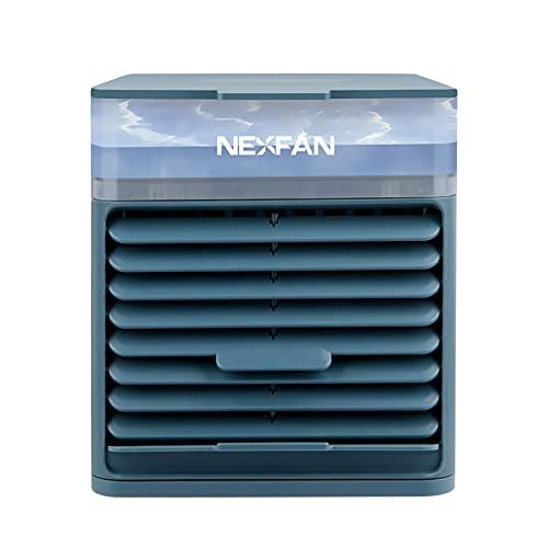 TLM Toys Climatizzatore mobile, piccolo Air Cooler, climatizzatore portatile, 4 in 1, con luce LED, riduzione del rumore, raffreddamento ad aria, aria rinfrescante, per ufficio, auto/non batteria